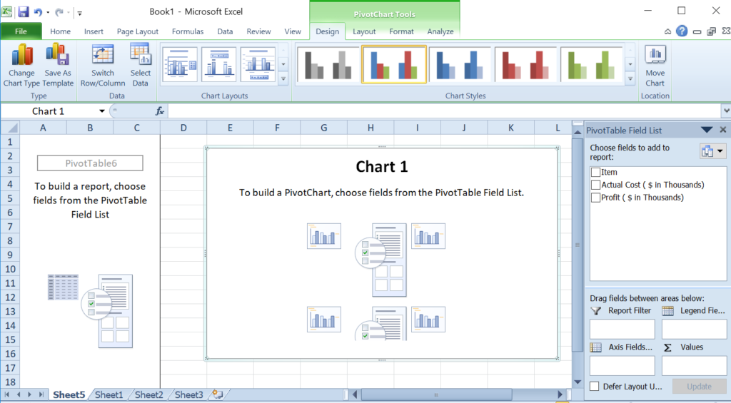 PivotChart and Table Example